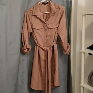 Button down dress with belt
